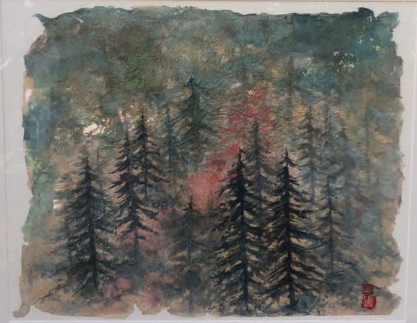 Foggy Trees In Color  Art | donnadacuti