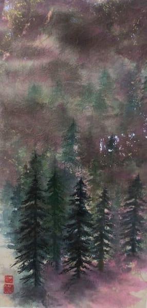 Foggy Trees In Purple  Art | donnadacuti