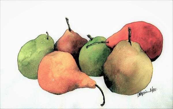 A casual still life watercolor by Katharine Taylor