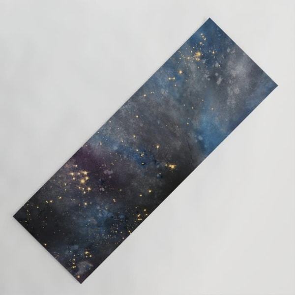 Galaxy yoga mat for cosmic meditation