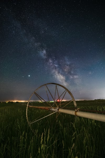 Water Wheel Milky Way Photography Art | Teaga Photo