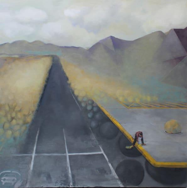 original oil painting of surreal nation park landscape
