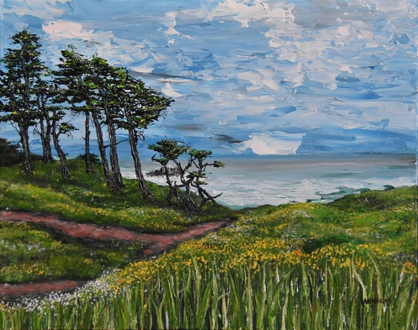 Lands End San Francisco - California Beach Art – Original Paintings – Fine Art Prints on Canvas, Paper, Metal & More