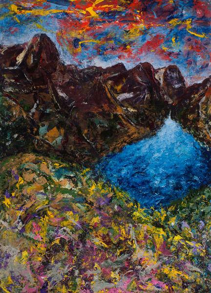 """Clarity Of Lake"" Original Art | Daniel Kanow Fine Art"