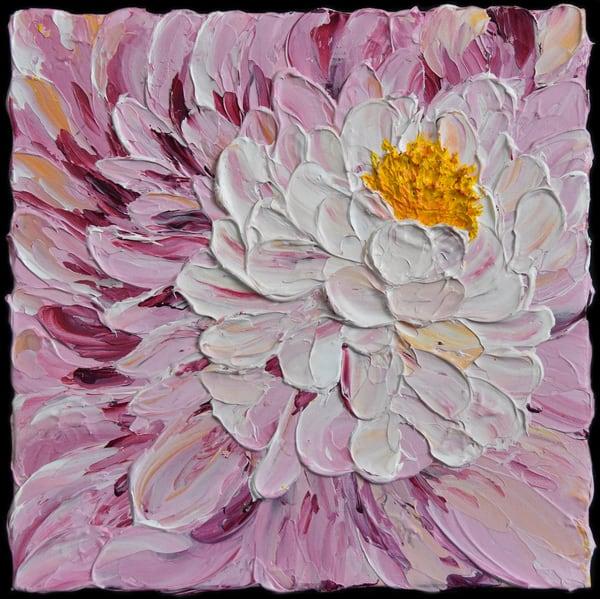 Dahlia Flower Art – Impasto Original Paintings – Fine Art Prints on Canvas, Paper, Metal & More