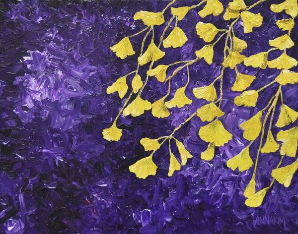Gingko Biloba in Fall Art – California Original Paintings – Fine Art Prints on Canvas, Paper, Metal & More