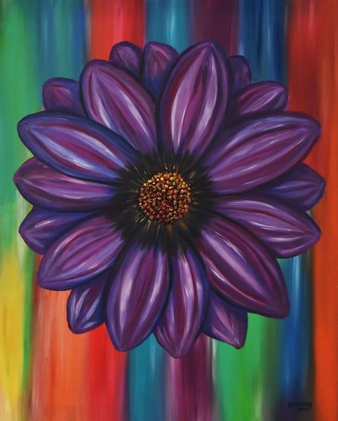 Purple Daisy Flower Art – Original Paintings – Fine Art Prints on Canvas, Paper, Metal & More