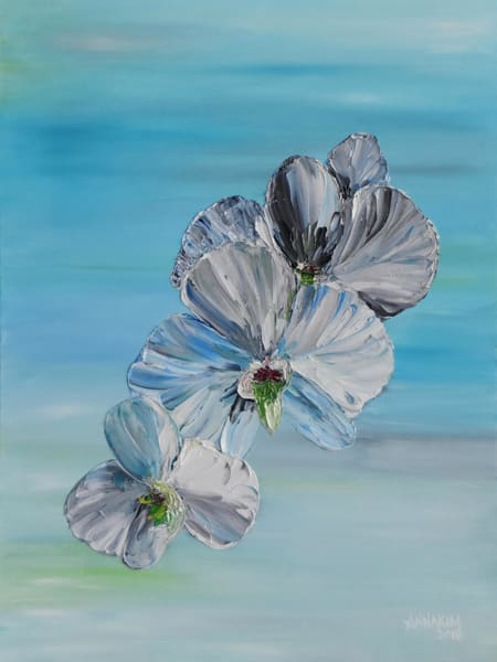 Orchid Flower Art – Original Paintings – Fine Art Prints on Canvas, Paper, Metal & More