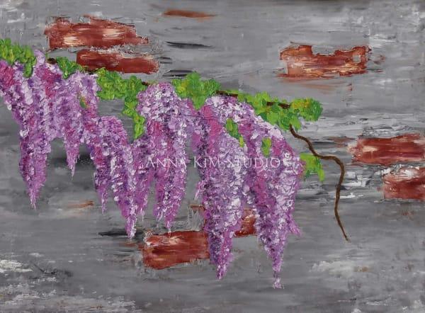 Wisteria Purple Art – Original Paintings – Fine Art Prints on Canvas, Paper, Metal & More