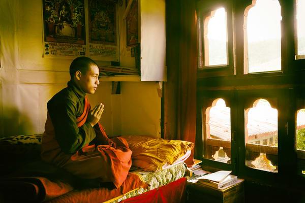 Praying Monk Photography Art | nancyney
