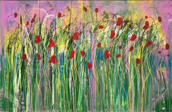 Poppies In The Wind  Art | Maciek Peter Kozlowski Art
