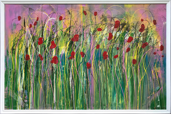 Poppies In The Wind Original Art | Maciek Peter Kozlowski Art