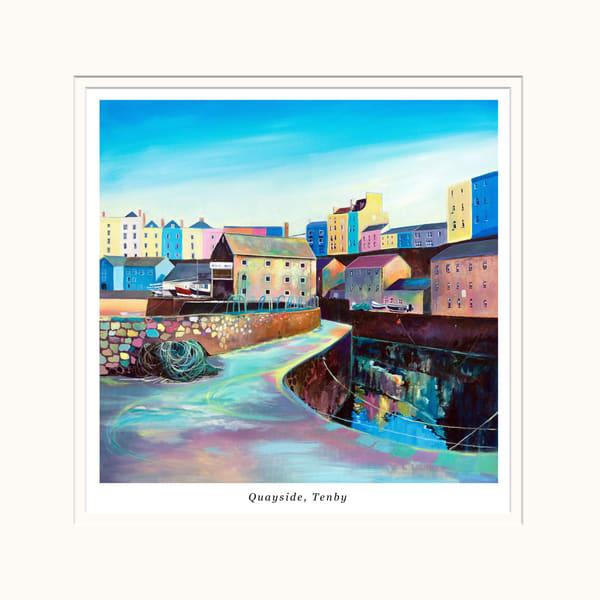 Tenby Quayside Small Art Print