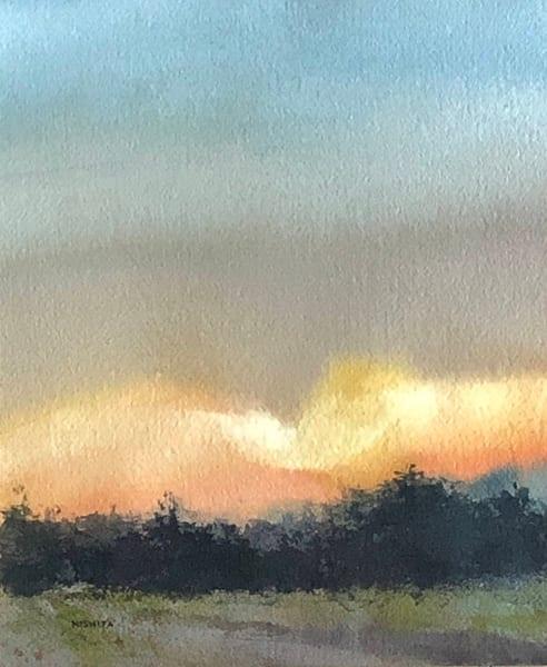 Golden Daybreak Art | Nishitas Art
