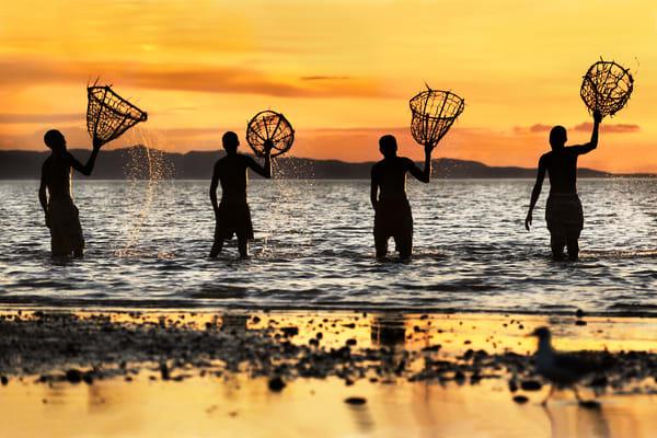 Fisherman With Nets Photography Art | nancyney