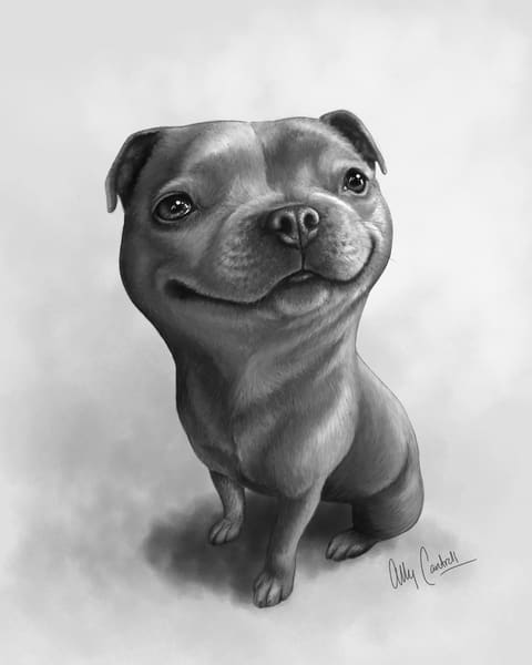 Dora The Staffy Art | BunnyPigs