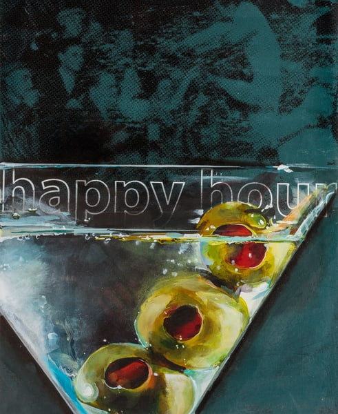 Happy Hour   3 Olives Art | Jeff Schaller