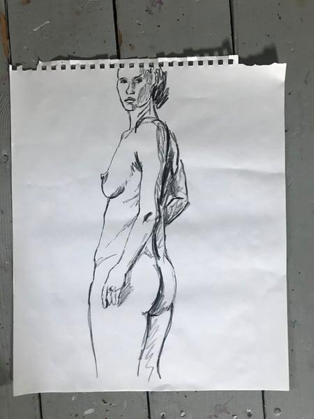 #1 Charcoal Figure Sketch Art | Joan Cox Art