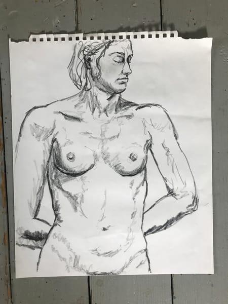 #2 Charcoal Figure Sketch Art | Joan Cox Art