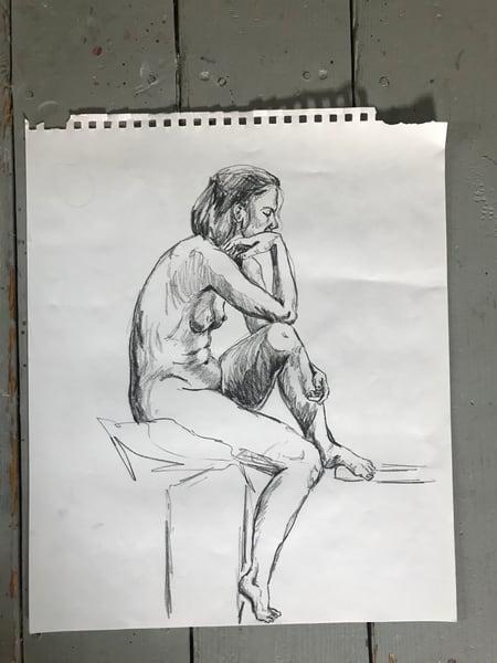 #3 Charcoal Figure Sketch Art | Joan Cox Art