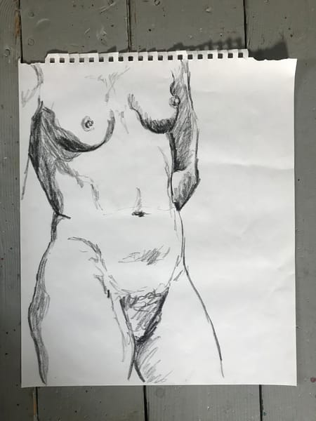#5 Charcoal Figure Sketch Art | Joan Cox Art
