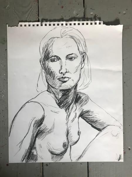 #6 Charcoal Figure Sketch Art | Joan Cox Art