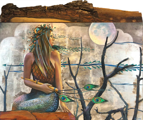Oakcreek Mermaid Original Art Art | Big Vision Art + Design