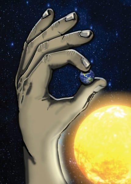 He S Got The Whole World In His Hands W Sun Art | Jamila Art Gallery