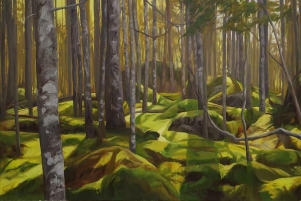 Moss Covered Mounds In Maine Art   Helen Vaughn Fine Art