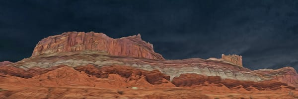 Storm over Capitol Reef, print of photograph in Capitol Reef National Park, southeast Utah for sale as digital art by Maureen Wilks