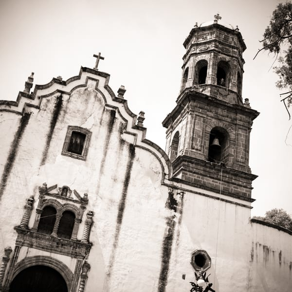 Old Catholic church in rural Mexico.