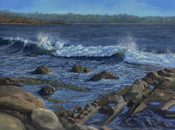 Breakers On Bass Rocks Art | Mark Grasso Fine Art