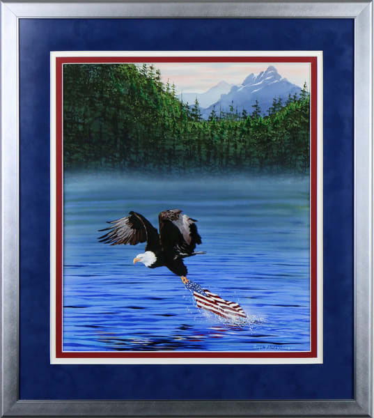 """We Shall Be Free"" a patriotic tribute painting to 911 by Montana artist Joe Ziolkowski."
