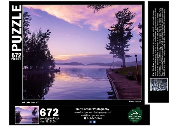 (Sold Out)  4th Lake Inlet Puzzle | Kurt Gardner Photogarphy