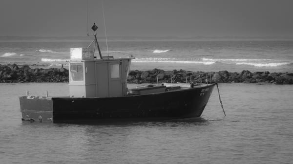 Black & White Fishing Boat South Africa photography collection | Eugene L Brill