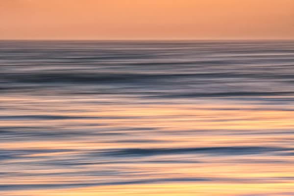 Abstract Ocean Sunset