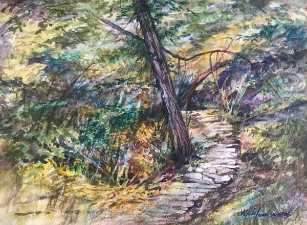 Lindy C Severns Art | The Path Time Forgot, notecard