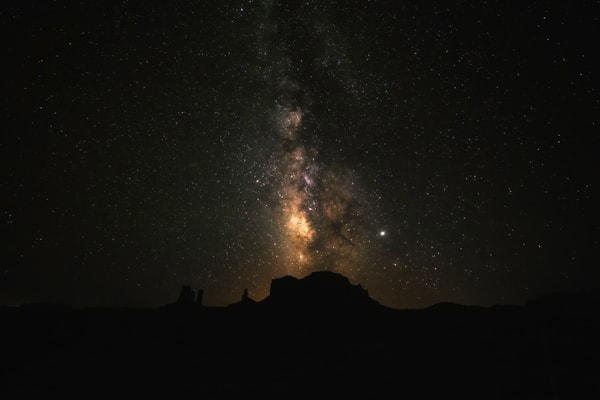 Standing on the Arizona and Utah border photographing the Milky Way