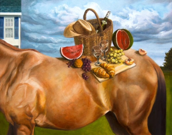 Horseback Picnic Art   Kym Day Studio