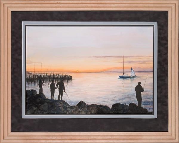 Night Fishing Art   artalacarte