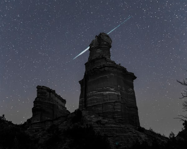 Meteor Over the Lighthouse