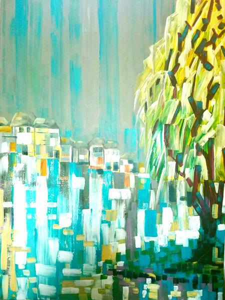 Willow By The Lake  Art | Janak Narayan Fine Art
