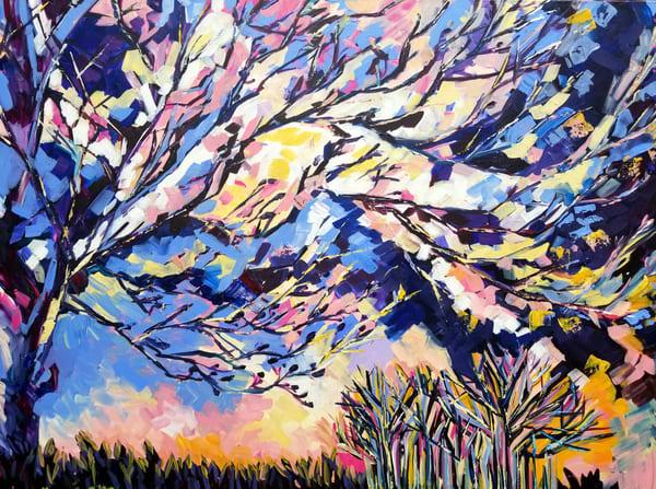 Purple Dawn  Art | Janak Narayan Fine Art