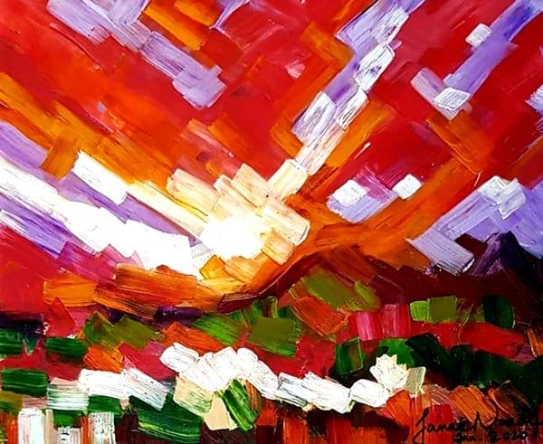 Spectacular Sunrise Art | Janak Narayan Fine Art