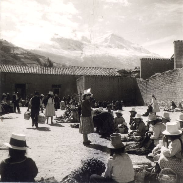Village Gathering in the Andes Mountains