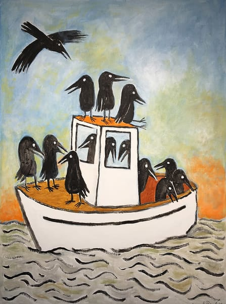 Boat Load Of Crows Art | Fountainhead Gallery