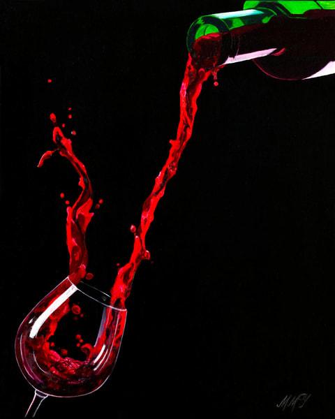 Wine Enthusiast | Original Mixed Media Painting Art | MMG Art Studio | Fine Art Colorado Gallery
