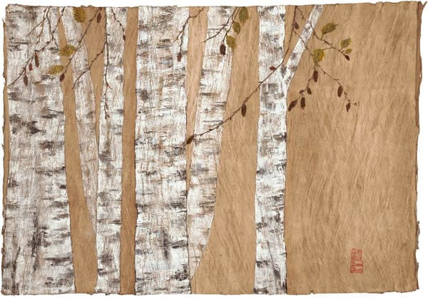 Birch On Bark Art | donnadacuti