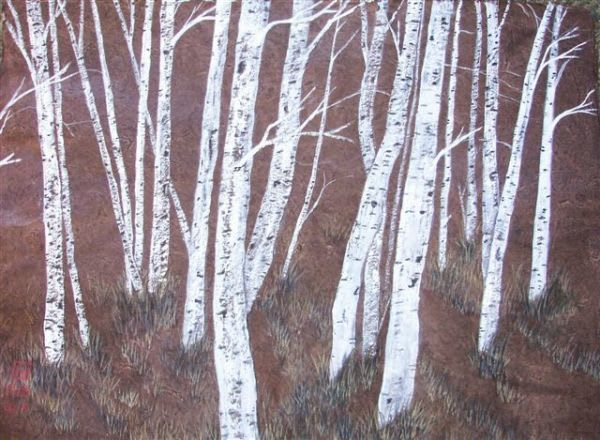 Birch On Brown Art | donnadacuti