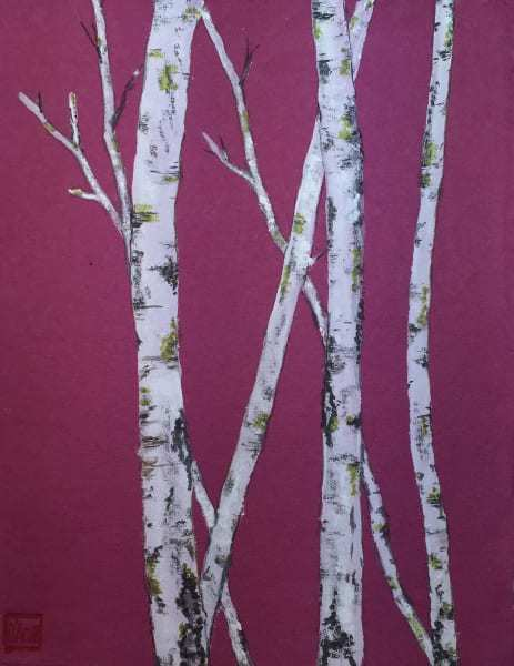 Birch On Magenta Art | donnadacuti